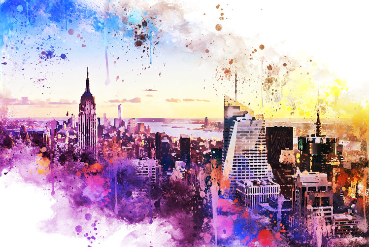 Canvas Print NYC Watercolor 031