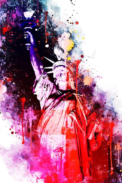 Canvas Print NYC Watercolor 036