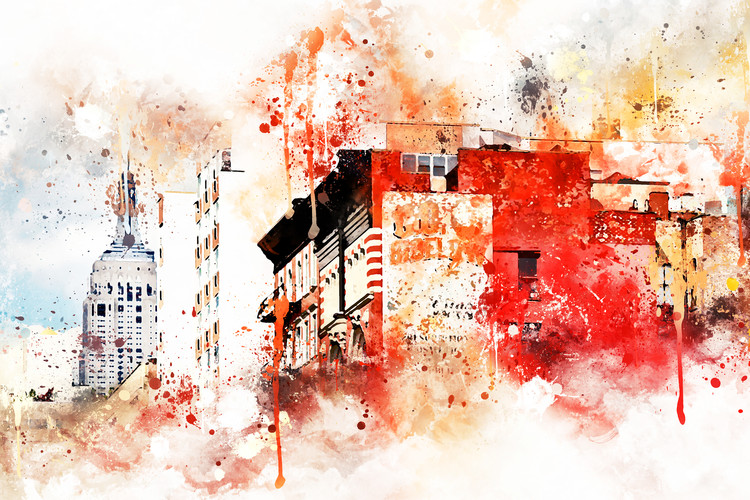 Canvas Print NYC Watercolor 051