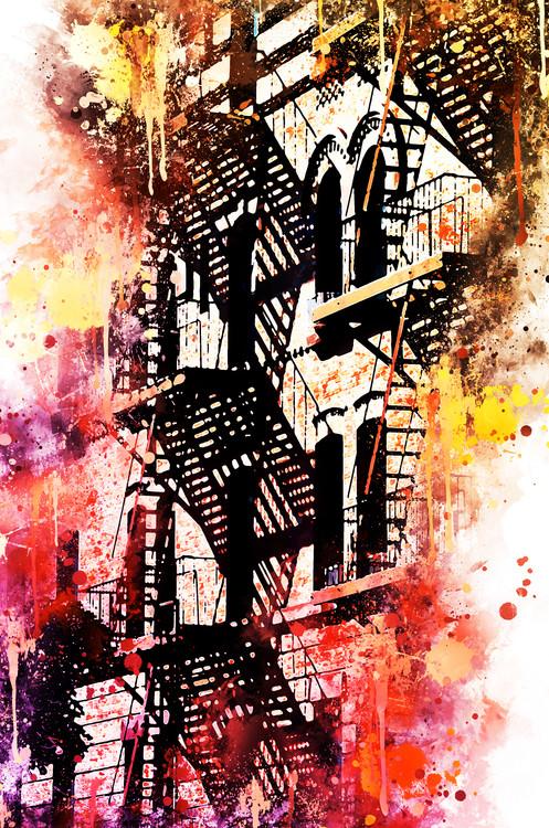 Canvas Print NYC Watercolor 053
