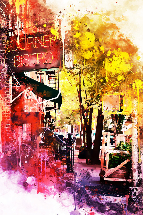 Canvas Print NYC Watercolor 054