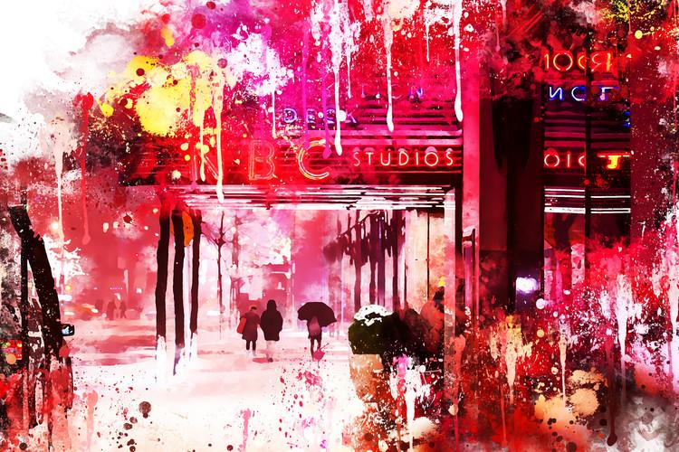 Canvas Print NYC Watercolor 105