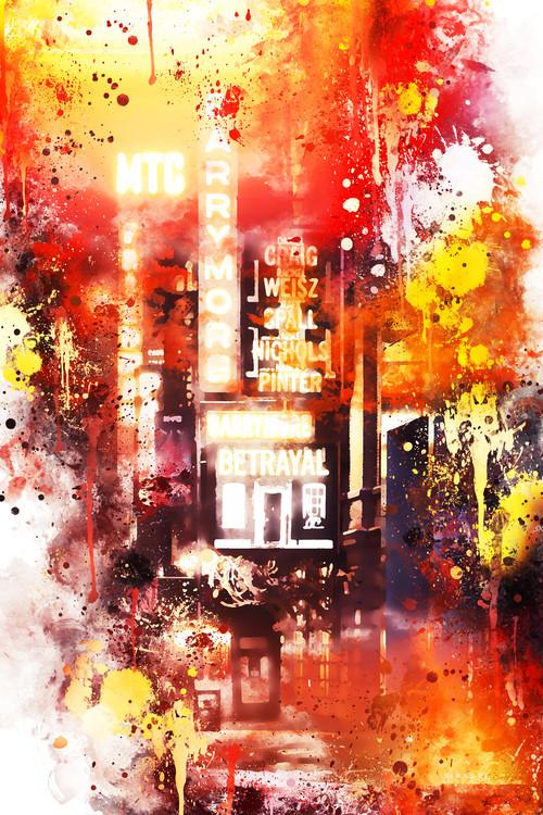 Canvas Print NYC Watercolor 108