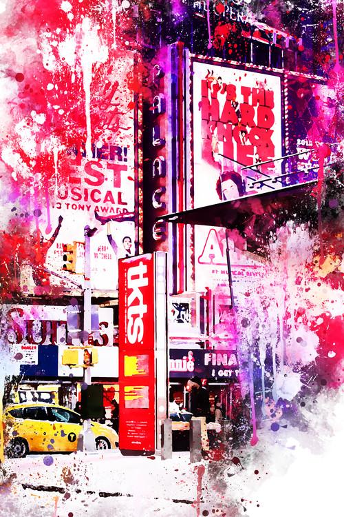 Canvas Print NYC Watercolor 110