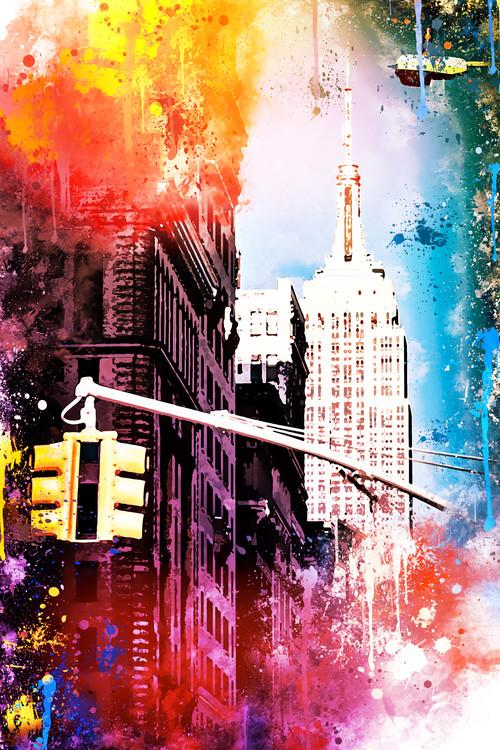 Canvas Print NYC Watercolor 113