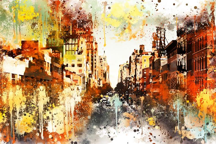 Canvas Print NYC Watercolor 114