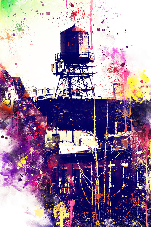 Canvas Print NYC Watercolor 117