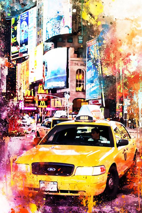 Canvas Print NYC Watercolor 147