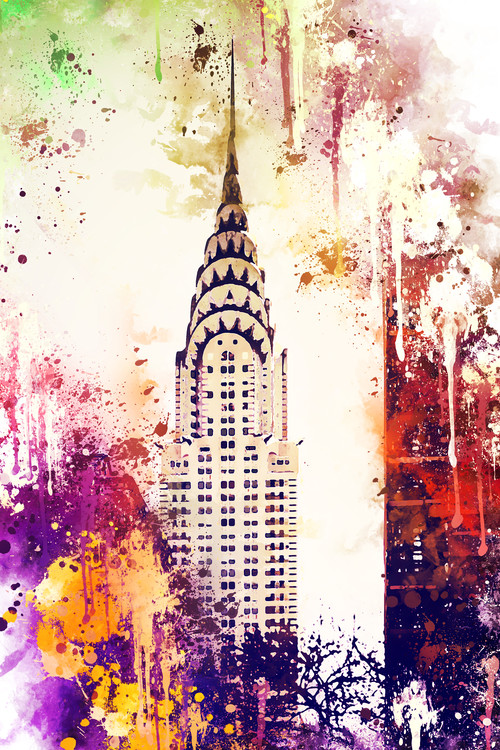Canvas Print NYC Watercolor 155