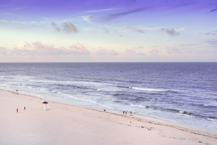 Canvas Print Ocean View at Sunset - Cancun