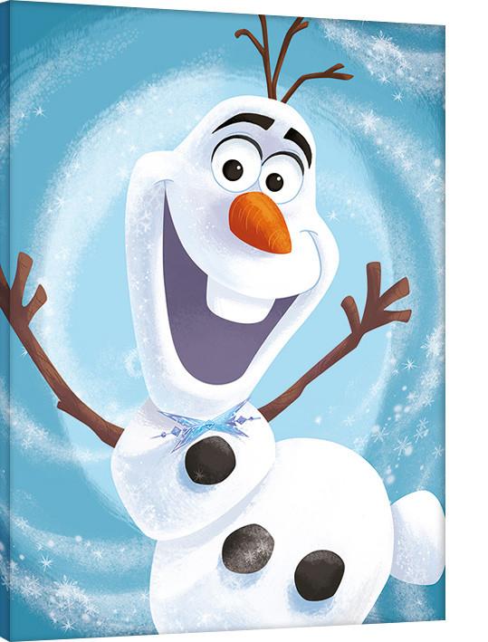 Canvas Print Olaf's Frozen Adventure - Happy