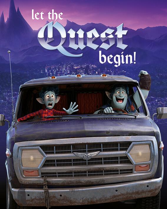 Canvas Print Onward - Let The Quest Begin!