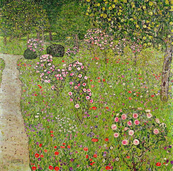 Canvas Print Orchard with roses