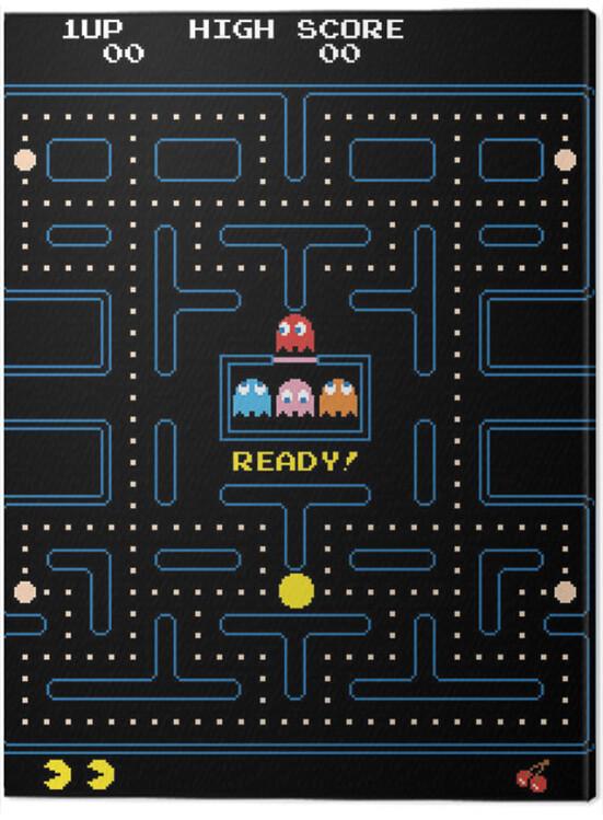 Canvas Print Pac-Man - Maze
