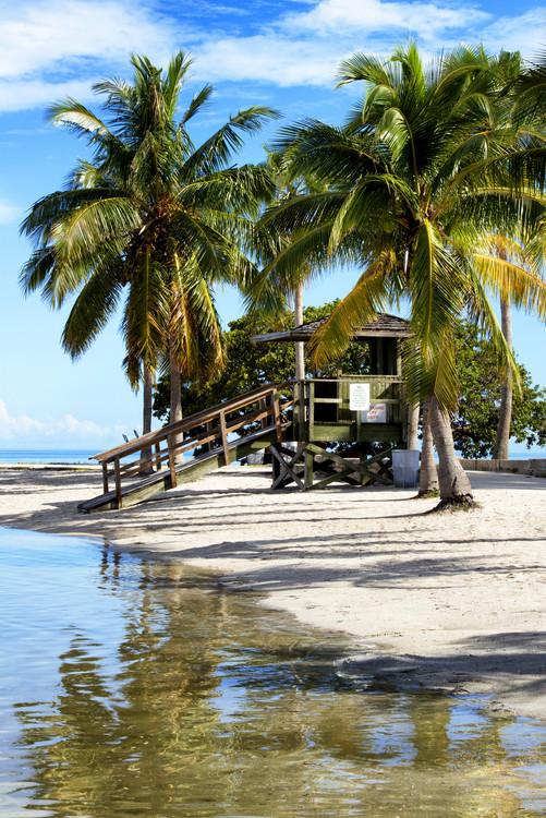 Canvas Print Paradisiacal Beach - Miami