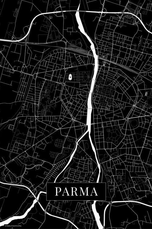 Canvas Print Parma black