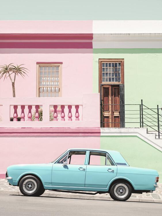 Canvas Print Pastel Vintage Car