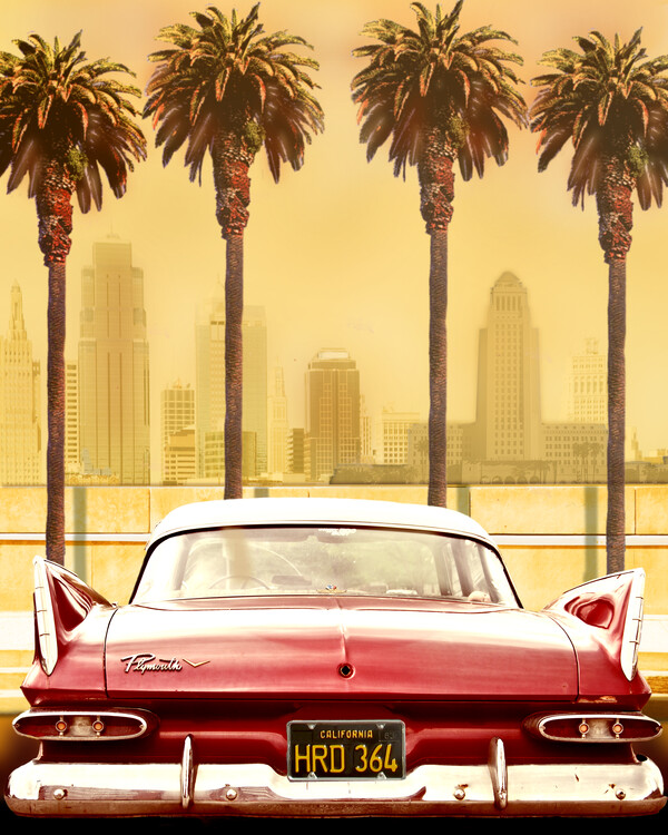 Canvas Print PLYMOUTH SAVOY WITH PALMS