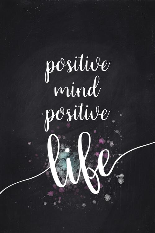 Positive Mind Positive Life Canvas Print