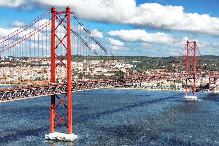 Canvas Print Red Bridge Lisbon