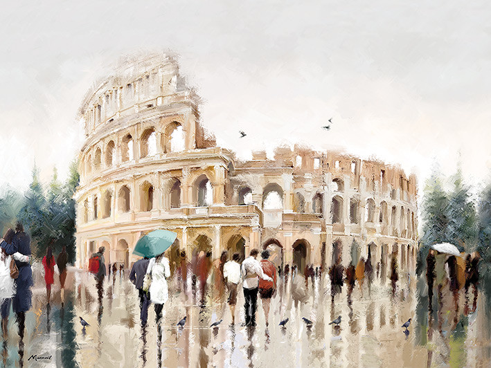 Canvas Print Richard Macneil - Colosseum, Rome