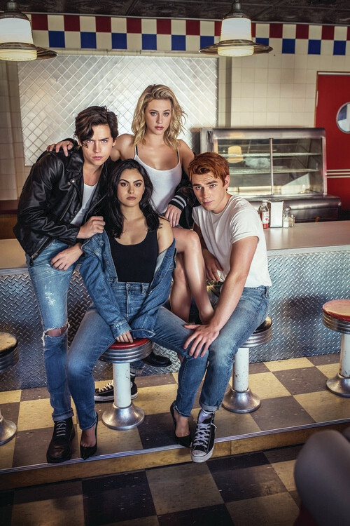 Canvas Print Riverdale - Archie, Veronica, Jughead and Betty