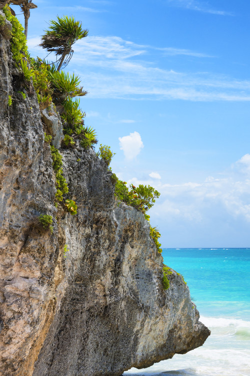 Canvas Print Rock in the Caribbean