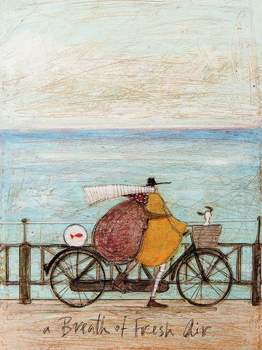 Canvas Print Sam Toft - A Breath of Fresh Air