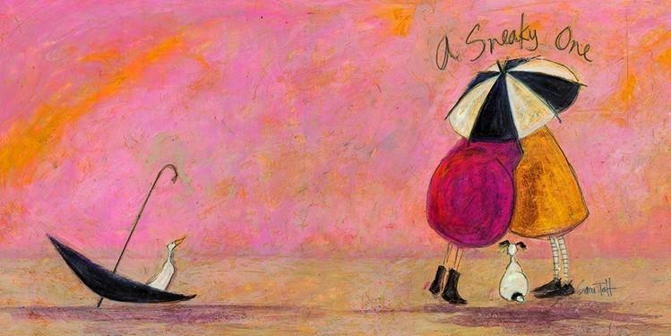 Canvas Print Sam Toft - A sneaky one II
