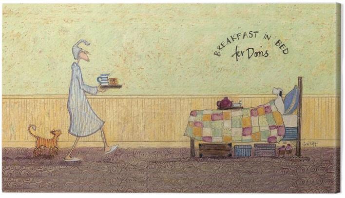 Canvas Print Sam Toft - Breakfast in bed for Doris