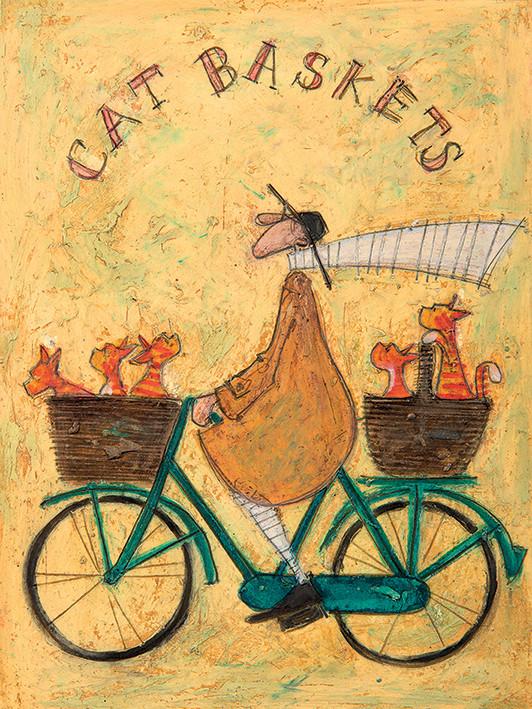 Canvas Print Sam Toft - Cat Baskets