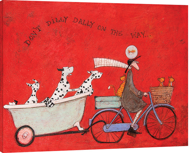 Sam Toft - Don't Dilly Dally on the Way Canvas Print