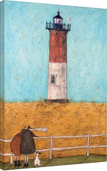 Canvas Print Sam Toft - Feeling the Love at Nauset Light