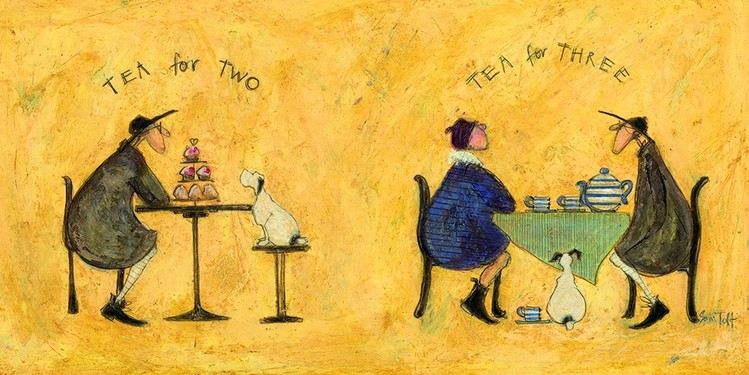 Sam Toft - Tea for two, tea fro three Canvas Print