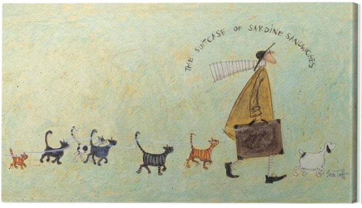 Canvas Print Sam Toft - The suitcase of sardine sandwiches