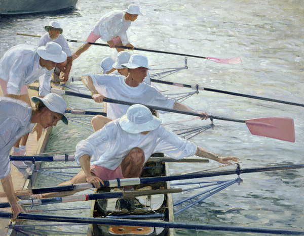 Canvas Print Securing Oars, Henley