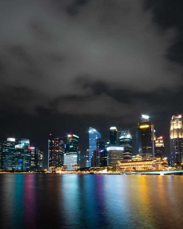 Singapore Glow Canvas Print