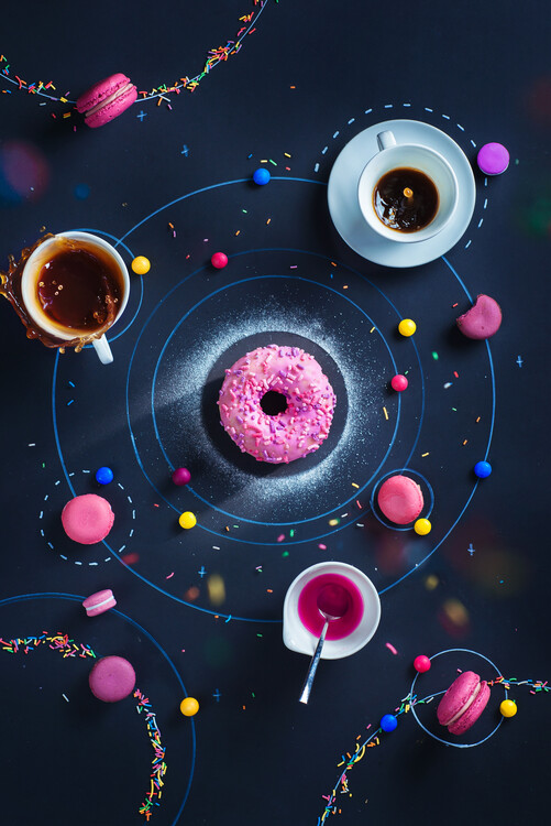 Canvas Print Space Donut