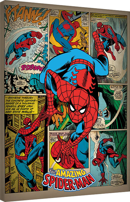 Canvas Print Spider-Man - Retro