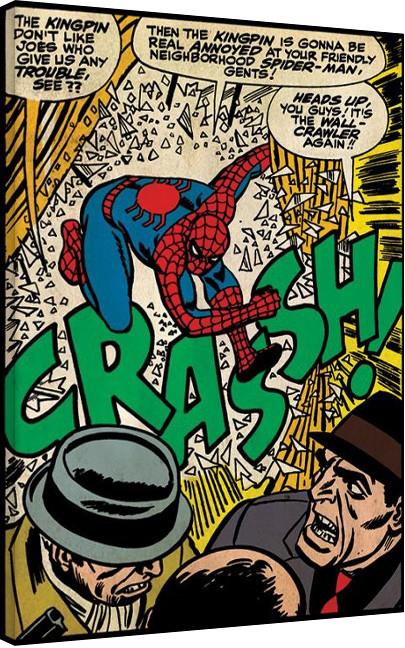 Spiderman - Crash Canvas Print