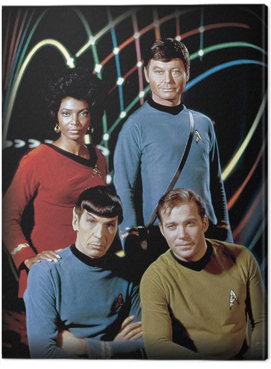Canvas Print Star Trek - Kirk, Spock, Uhura & Bones
