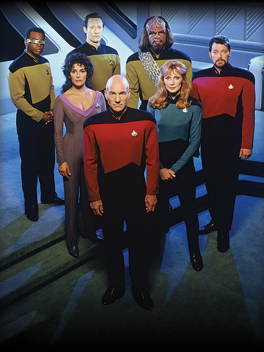 Canvas Print Star Trek: The Next Generation - Enterprise Officers
