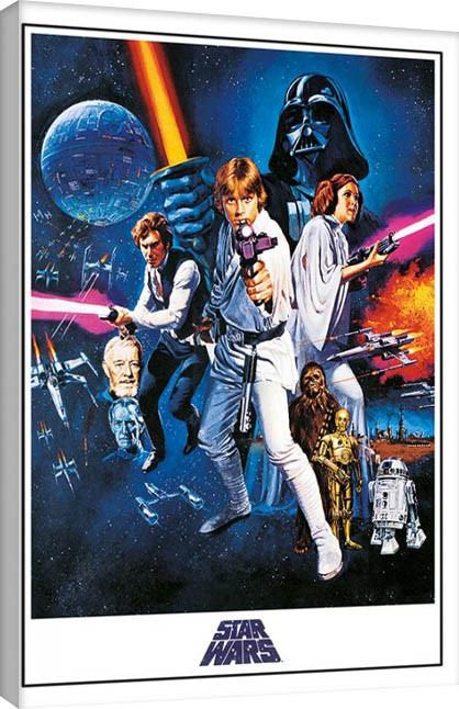 Canvas Print Star Wars Episode Iv A New Hope Wall Decorations Europosters