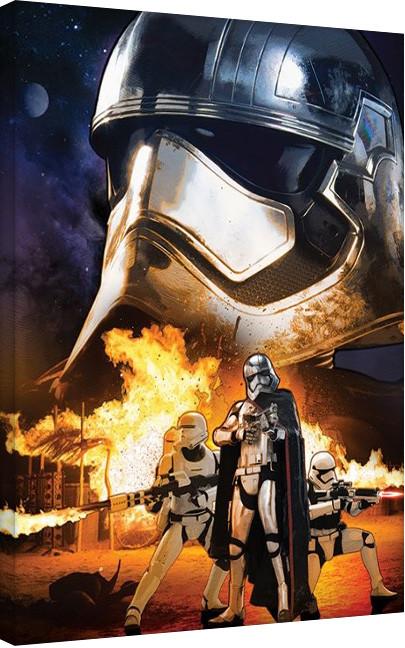 Star Wars Episode VII: The Force Awakens - Captain Phasma Art Canvas Print