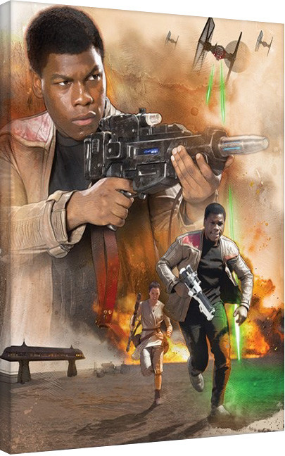 Canvas Print Star Wars Episode VII: The Force Awakens - Finn Art
