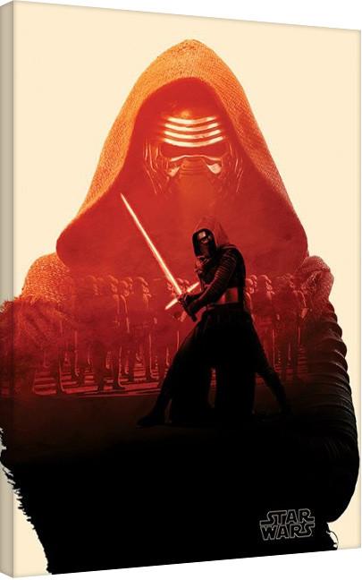Canvas Print Star Wars Episode VII: The Force Awakens - Kylo Ren Tri