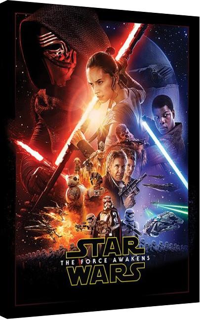 Star Wars Episode VII: The Force Awakens - Rey Tri Canvas Print