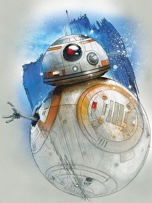 Canvas Print Star Wars The Last Jedi - BB-8 Brushstroke