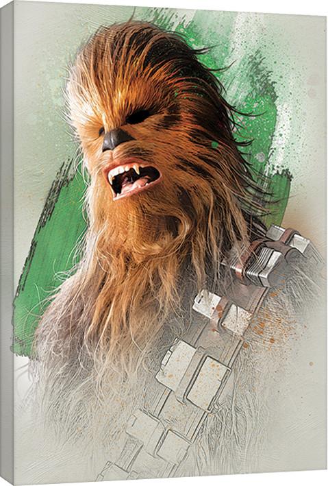 Canvas Print Star Wars The Last Jedi - Chewbacca Brushstroke