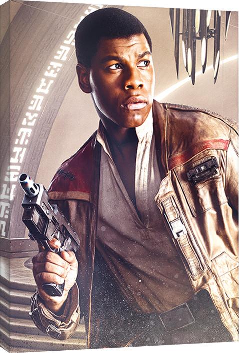 Canvas Print Star Wars The Last Jedi - Finn Blaster